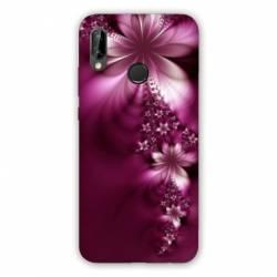 Coque Huawei Honor 8A fleur violette montante