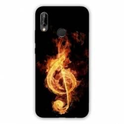 Coque Huawei Honor 8A Musique clé sol feu N