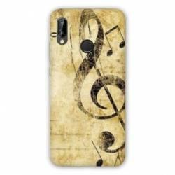 Coque Huawei Honor 8A Musique clé sol vintage