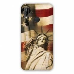 Coque Huawei Honor 8A Amerique USA Statue liberté