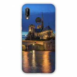 Coque Huawei Honor 8A France Notre Dame Paris night