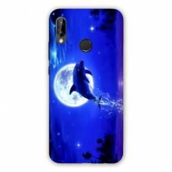 Coque Huawei Honor 8A Dauphin lune