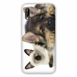 Coque Huawei Honor 8A Chien vs chat