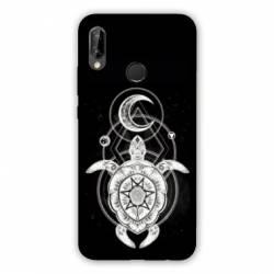 Coque Huawei Honor 8A Animaux Maori Tortue noir