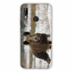 Coque Huawei Honor 8A chasse sanglier Neige