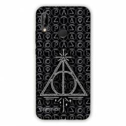Coque Huawei Honor 8A WB License harry potter pattern triangle noir