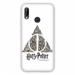 Coque Huawei Honor 8A WB License harry potter pattern triangle Blanc