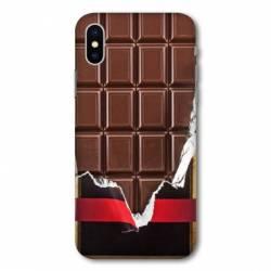 Coque Wiko Y60 Trompe œil chocolat