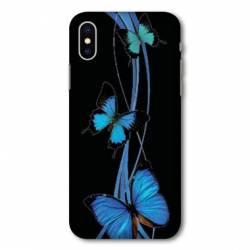 Coque Wiko Y60 papillons bleu