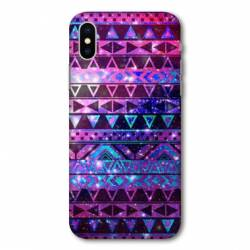Coque Wiko Y80 motifs Aztec azteque violet