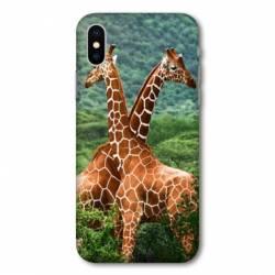Coque Wiko Y80 savane Girafe Duo