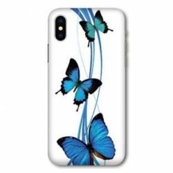 Coque Wiko Y80 papillons bleu