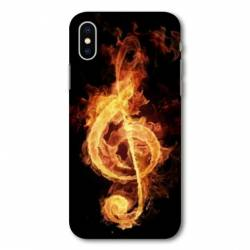 Coque Wiko Y80 Musique clé sol feu N
