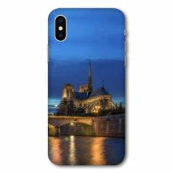 Coque Wiko Y80 France Notre Dame Paris night