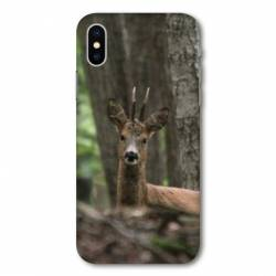 Coque Wiko Y80 chasse chevreuil Bois