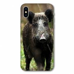 Coque Wiko Y80 chasse sanglier bois