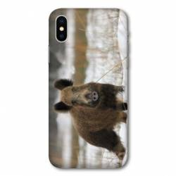 Coque Wiko Y80 chasse sanglier Neige