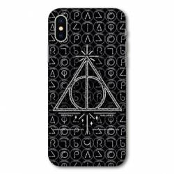 Coque Wiko Y80 WB License harry potter pattern triangle noir