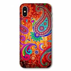 Housse cuir portefeuille Huawei Y5 (2019) fleur psychedelic