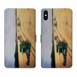 Housse cuir portefeuille Huawei Y5 (2019) Agriculture Moissonneuse