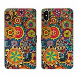 Housse cuir portefeuille Huawei Y5 (2019) Psychedelic Roue