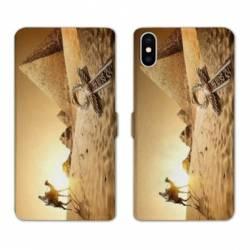 Housse cuir portefeuille Huawei Y5 (2019) Egypte Chameau