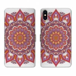 Housse cuir portefeuille Huawei Y5 (2019) Etnic abstrait Rosas orange