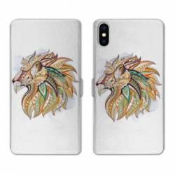 Housse cuir portefeuille Huawei Y5 (2019) Ethniques Lion