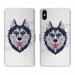 Housse cuir portefeuille Huawei Y5 (2019) Ethniques Husky Color