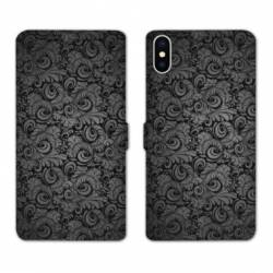 Housse cuir portefeuille Huawei Y5 (2019) Texture velours