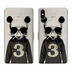 Housse cuir portefeuille Huawei Y5 (2019) Decale Panda