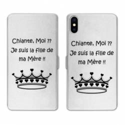 Housse cuir portefeuille Huawei Y5 (2019) Humour Moi chiante