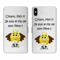 Housse cuir portefeuille Huawei Y5 (2019) Humour Moi chiant