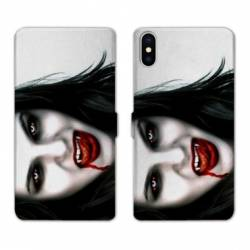 Housse cuir portefeuille Huawei Y5 (2019) Vampire blanc