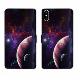 Housse cuir portefeuille Huawei Y5 (2019) Planete rouge