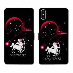 Housse cuir portefeuille Huawei Y5 (2019) signe zodiaque Sagittaire