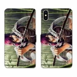 Housse cuir portefeuille Huawei Y5 (2019) Manga bambou
