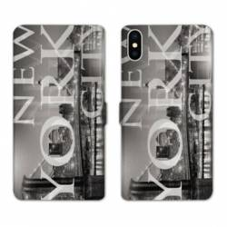 Housse cuir portefeuille Huawei Y5 (2019) Amerique USA New York