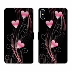 Housse cuir portefeuille Huawei Y5 (2019) Cœur rose Montant