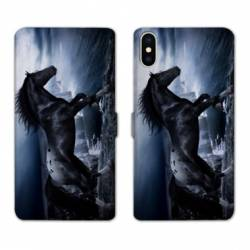 Housse cuir portefeuille Huawei Y5 (2019) Cheval