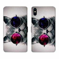 Housse cuir portefeuille Huawei Y5 (2019) Chat Fashion