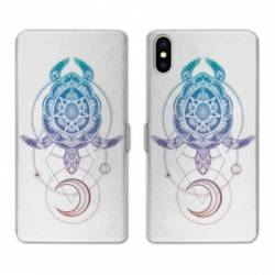 Housse cuir portefeuille Huawei Y5 (2019) Animaux Maori tortue color