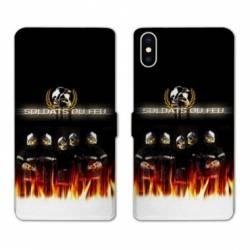 Housse cuir portefeuille Huawei Y5 (2019) pompier soldat