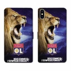 Housse cuir portefeuille Huawei Y5 (2019) Licence Olympique Lyonnais - Rage de vaincre