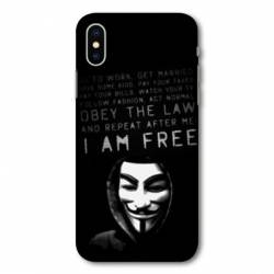 Coque Huawei  Y5 (2019) Anonymous I am free