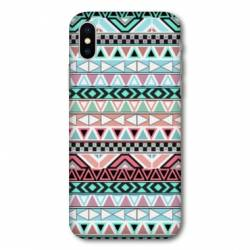 Coque Huawei  Y5 (2019) motifs Aztec azteque turquoise