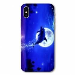 Coque Huawei  Y5 (2019) Dauphin lune