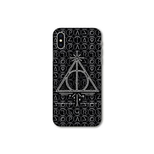 Coque Pour Huawei Y5 (2019) WB License harry potter pattern triangle noir