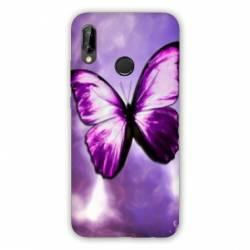 Coque Samsung Galaxy A20e papillons violet et blanc
