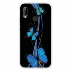 Coque Samsung Galaxy A20e papillons bleu